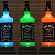 man cave lighting. jack daniels tennessee whiskey led color changing remote control liquor bottle lamp bar light man cave lighting