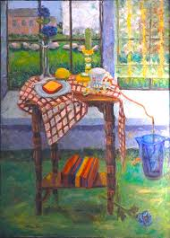 Still Life in Window Painting by Bonnie Wilber