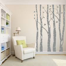 zoom on silver birch wall art stickers with tree wall decals birch tree decals living room decor