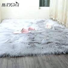 fake fur rug faux fur rug caramel white sheepskin long blanket decorative blankets bed carpet floor