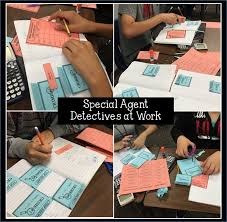 students have fun solving the crimes as they practice writing linear equations in slope intercept