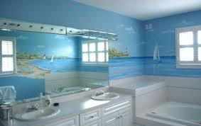12 Beautiful Wall Murals Design For Your Dream Bathroom  Style Bathroom Wallpaper Murals
