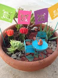 mexican fairy garden martha stewart craft punch flag banner michael s terra cotta pots broken pottery for the path home depot for succulents and pot