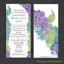 Peacock Invitations Peacock Wedding Invitations Kinderhooktap Com