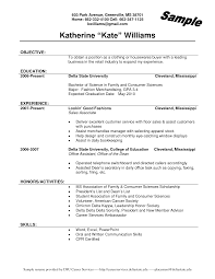 Sample Resume For Fashion Retail Job Therpgmovie