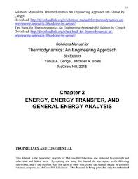 Solutions Manual for Thermodynamics An Engineering Approach 8th ...