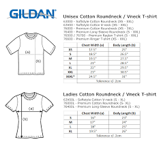 Gildan Size Chart Ladies Gildan Premium Cotton T Shirt Size Chart Best Picture Of
