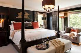 how to decorate a bedroom with black walls