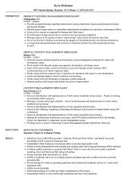 Sample Management Specialist Resume Content Management Specialist Resume Samples Velvet Jobs 15