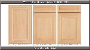 720 Maple Natural Finish Cabinet Door Style