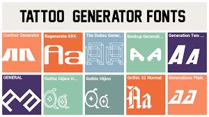Tattoo Font Generator Tattoo Font Font
