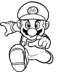 Super Mario Che Corre Disegno Da Colorare Gratis Per Bambini