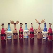 How To Decorate A Bottle Of Wine Viral Santa Wine Bottle Ideas for Christmas on Pinterest My Fun 40
