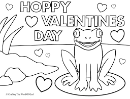 Hoppy Valentines Day Coloring Page Crafting The Word Of God