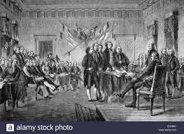 signing of the declaration of independence of the united states of north america in 1776 the u s historical ilration 1877