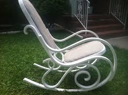 rocking chair rocker vintage bentwood antique white chalk painted artnouveau