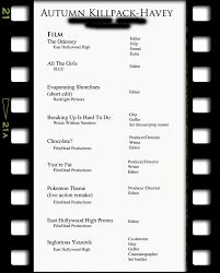 Filmmaker Resume Template The Filmmakers Blog Getting A Job In The Biz 20
