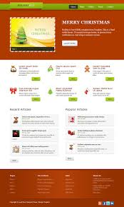 page html css templates holiday template