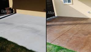 Backyard Concrete Designs Delectable DIY Project How To Stain A Concrete Patio The Garden Glove