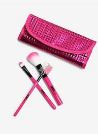 pink just makes everything better metallic pink makeup brush set eyebrow brush makeup