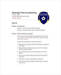 Outlook Meeting Agenda Template Strategic Planning Session Agenda Template