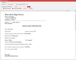Application Letter Format Bonafide Certificate Cehdaghana