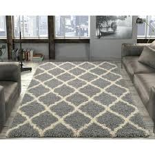gray area rug 8x10 black