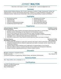 Best Resume Format For Software Developer Resume For Software Engineer Software Engineer Resume Example Sample