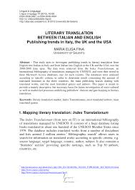 pdf literary translation between italian and english publishing trends in italy the uk and the usa