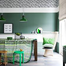 White and green room with matching furniture