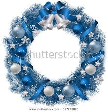 Christmas Wreath with fir branches and decorative elements.