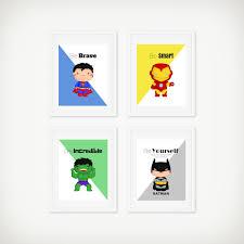 Superhero Bedroom Decor Superhero Room Decor Etsy