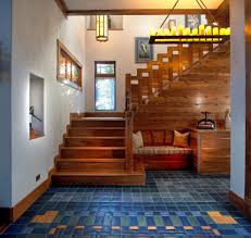 Craftsman Staircase craftsman staircase staircase craftsman with colorful floor tile 8790 by xevi.us