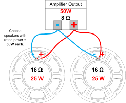 parallel speaker wiring diagram wiring diagram for you • speaker impedance power handling and wiring amplified parts rh amplifiedparts com series parallel speaker wiring diagram 70v speaker wiring diagram