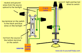 wiring a ceiling fan and light to a single switch