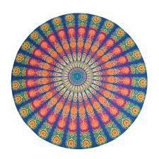 hanging beach towel. New Hot Round Wall Hanging Beach Towel Yoga Mat Floral Print Camping Pad Mandala Style Tapestry OB