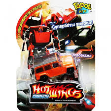 Робот-трансформер <b>Hot Wings Джип</b> (<b>оранжевый</b>)