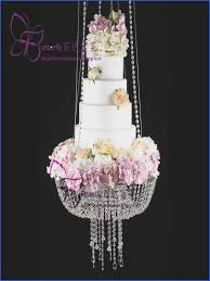wedding faux acrylic crystal chandelier style d suspended cake swing stand crystal dia24