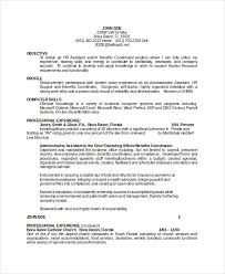 Resume Objectives For Business Free Resume Templates 2018