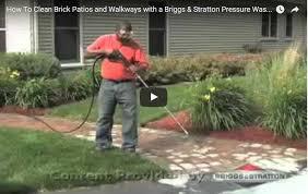 how to clean brick patios walkways