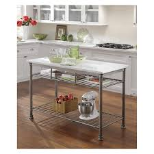 Full Size of Kitchen, Home styles portable kitchen island vintage caramel  finish rectangular white marble ...