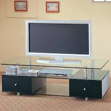 coaster 74 tv stand stands contemporary glass media console with drawers b