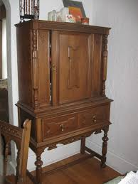 traditional carving wood diy liquor cabinet with high legs