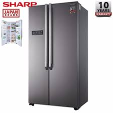 sharp side by side refrigerator. sharp 620litre side by sjx626ms refrigerator/fridge refrigerator