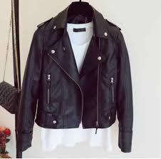 Female 2018 New Design Spring <b>Autumn PU Leather</b> Jacket Faux ...