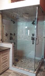 specializing in almost all types of glass and window installations we use 3 8 heavy glass for your frameless shower doors in addition to enclosing your