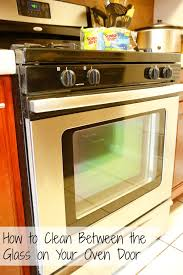 how to clean between the glass in your oven door without using any harsh chemicals