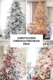 Flocked Christmas Tree 26 Best Flocked Christmas Tree Dccor Ideas Digsdigs