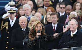 beyoncé lip synched national anthem at