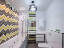Bathroom Wall Mounted Toilet Chevron Tile Chevron Walls Kids Bath - Kids bathroom remodel